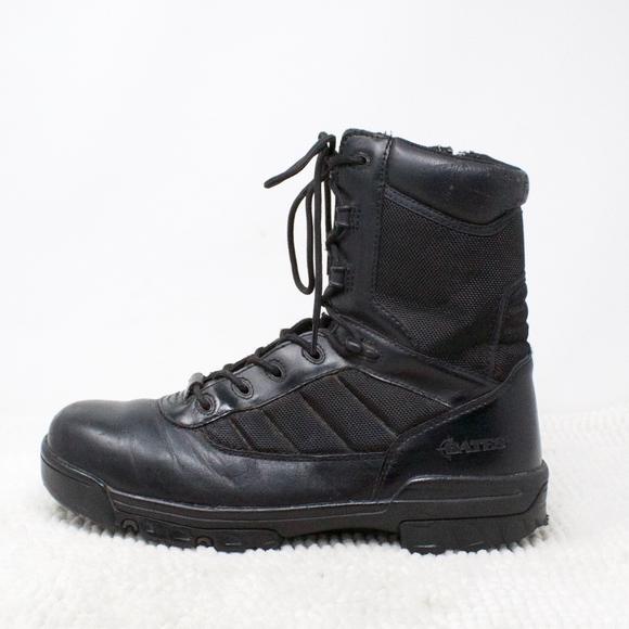 size 40 5e36a faa09 Bates Ultra Light Combat Zip Work Boots Black 10.5